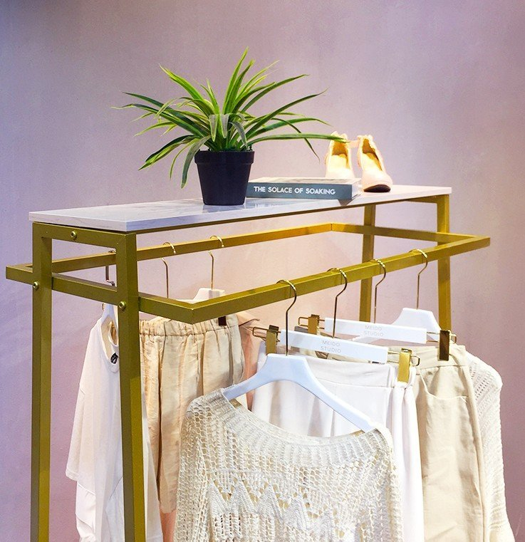 Garment Rack with Shelves for Hanging Clothes 2